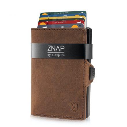 ZNAP Slim Wallet - Vintage bőr - barna
