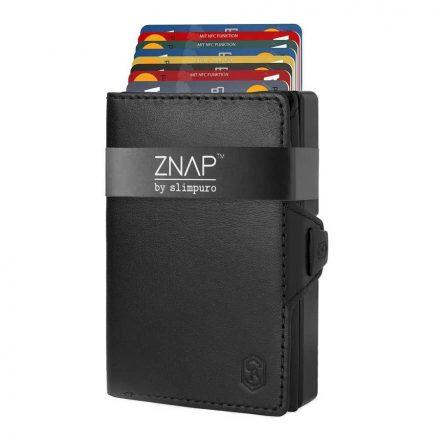 ZNAP Slim Wallet - Leather - fekete
