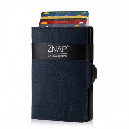 ZNAP Slim Wallet - Cork Leather - sötétkék